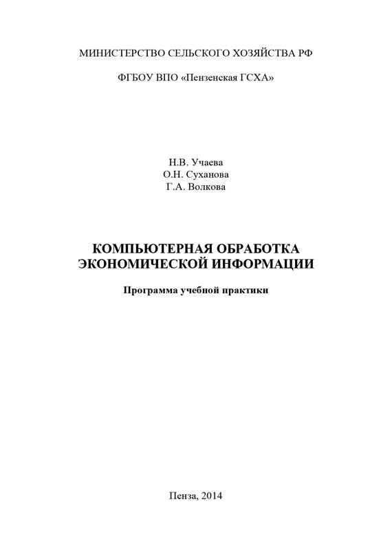 Обложка книги Компьютерная обработка экономической информации