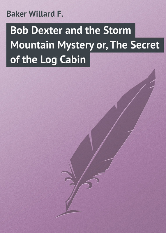Bob Dexter and the Storm Mountain Mystery or, The Secret of the Log Cabin – Willard Baker