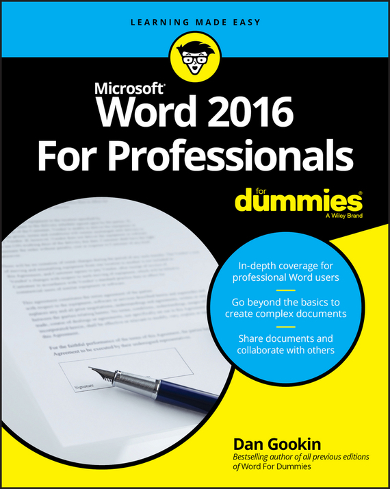 Word 2016 For Professionals For Dummies – Dan Gookin