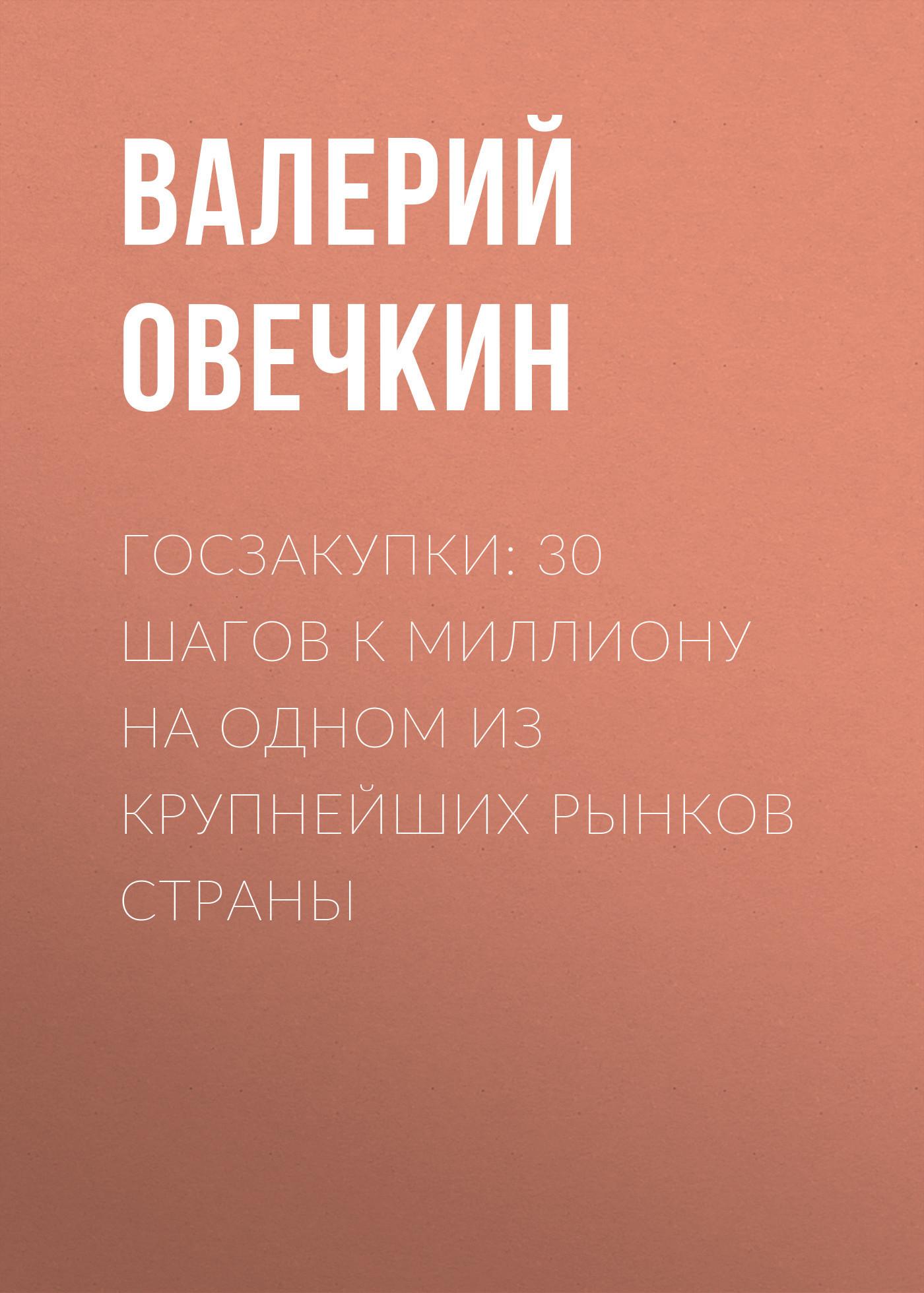 Обложка книги Госзакупки: 30 шагов к миллиону на одном из крупнейших рынков страны